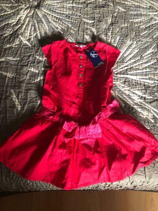 Vestido talla 3 años com etiqueta