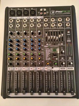 mesa de mezclas, mixer , mackie pro fx 8 v2