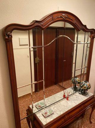 Mueble + espejo recibidor