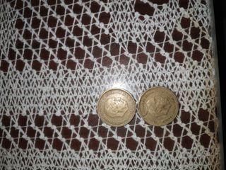 pesetas Franco y vinilos antiguos