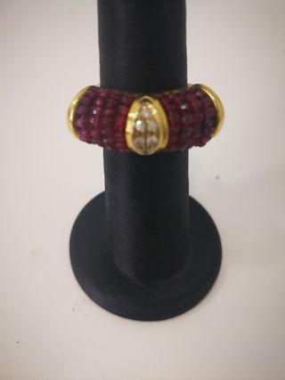 Anillo joya vintage de oro 18 kilates
