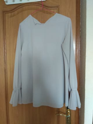 Blusa gris perla bimani biombo 13