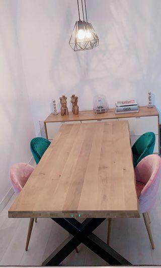 Comedor Nuevo mesa madera con sillas y 1 regalo