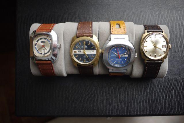 Colección de 7 relojes suizos marca Buler