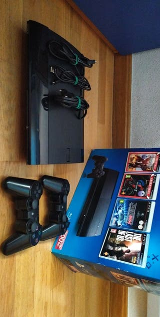 Play Station 3 Superslim 500 Gb + 12 Juegos