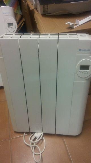 Radiadores eléctricos digitales calor azul