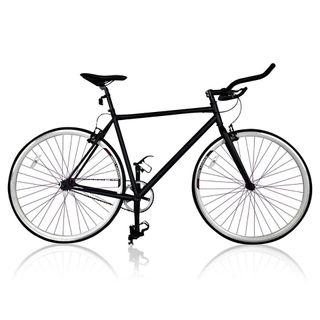 Bicicleta de carrereta fixie negra, bici, ciclismo