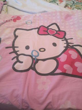 Funda nórdica Hello Kitty con funda de almohada