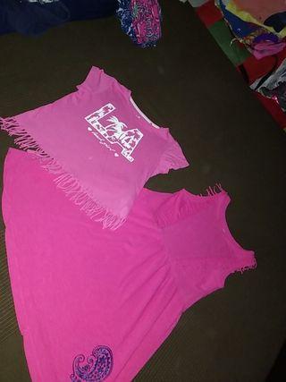 conjunto de camiseta+vestido.