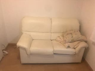 Sofa polipiel blanco