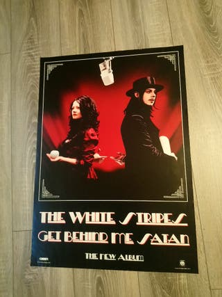 póster promocional usa grande the white stripes