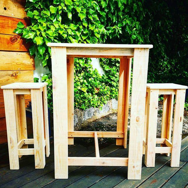 muebles madera terraza o jardín