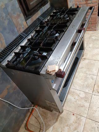 Cocina industrial 3 fuegos/ quemadores