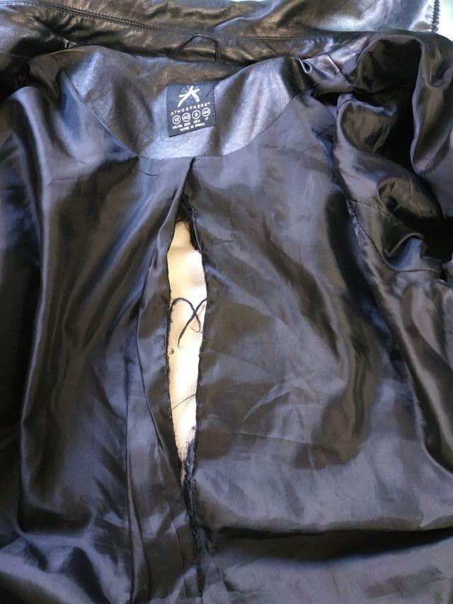 Faux Leather Coat