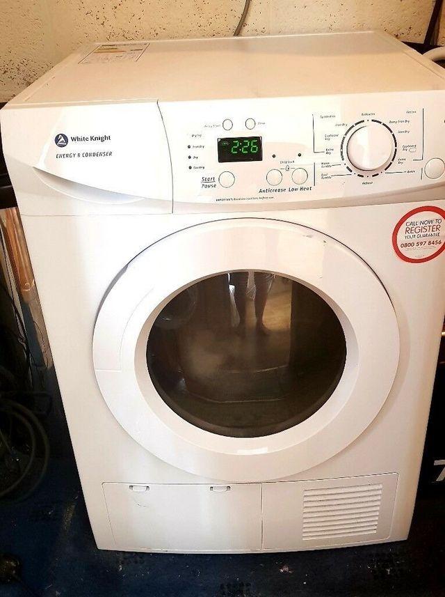 White knight 8kg condenser dryer