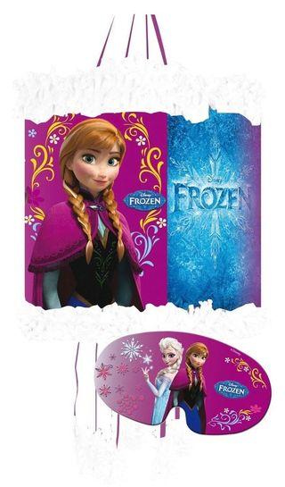 Piñata con antifaz de Frozen Elsa y Anna Nueva