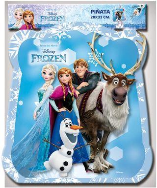 PIñata de Frozen Azul con cuerdas Nueva