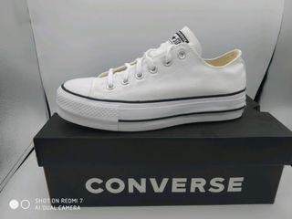 converse ctas lift ox white/black talla 39,5