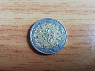 moneda error Portugal 2002