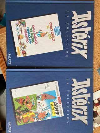 Dos comics tapa dura Astérix y Obélix