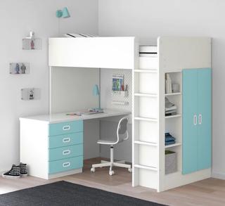 Cama alta + escritorio STUVA / FRITIDS Ikea