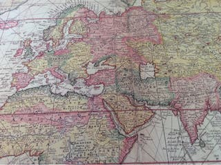 Mapa del mundo. Cartas náuticas