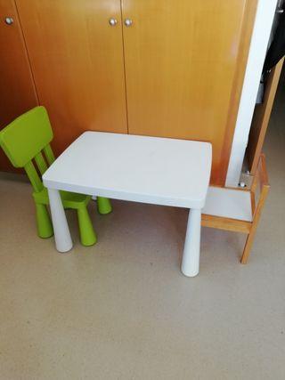 mesa y sillas Ikea Mammut