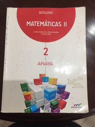 Libro 2 Bachillerato Matemáticas II