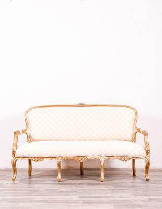 Sofá Antiguo Luis XV Pan De Oro