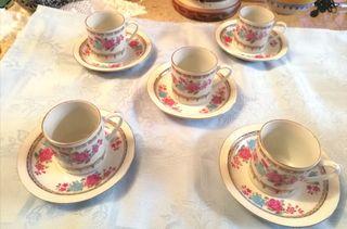 juego tazas café porcelana