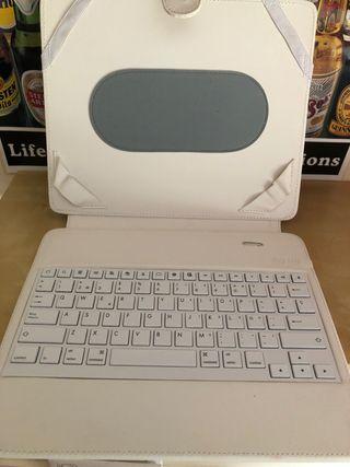 Funda con teclado para tablet o iPad