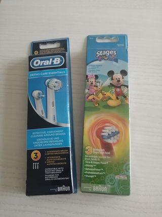 2 packs de Recambios para Cepillo Oral B