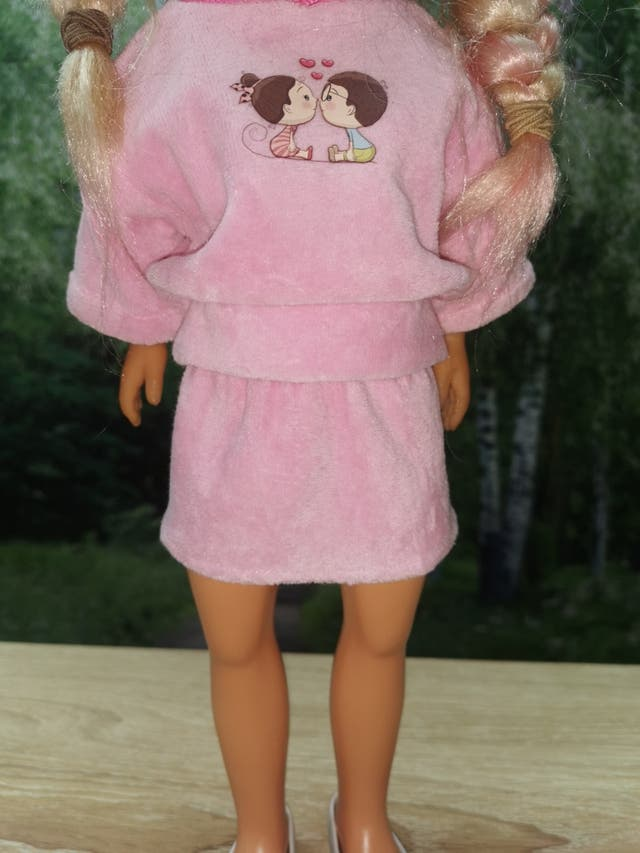 falda para muñeca Nancy