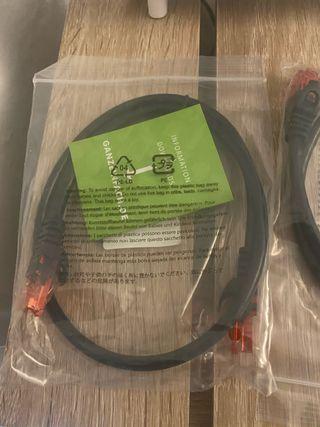 Cable de red RJ45 Cat.6 UTP 4x0,5m negro