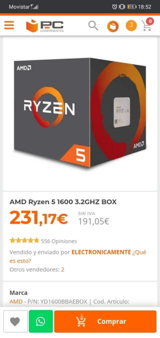 Ryzen 5 amd socket am4 con disipador