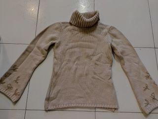 Jersey lana Crudo con bordados
