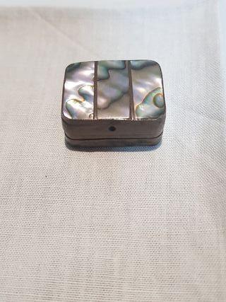 pastillero antiguo plata