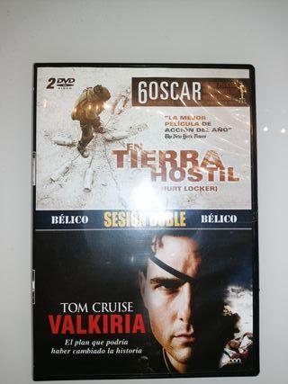 """Doble DVD NUEVOS """"Tierra hostil"""" y """"Valkiria"""""""