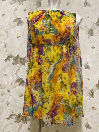 Vestido corto floral túnica Asos T38