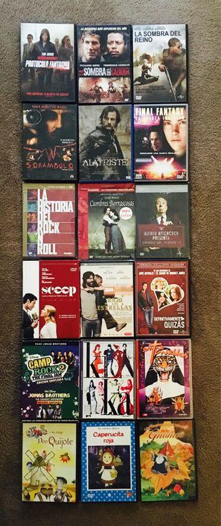 18 PELÍCULAS DVD ORIGINALES