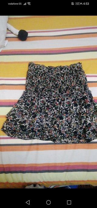 mini falda pantalón de zara