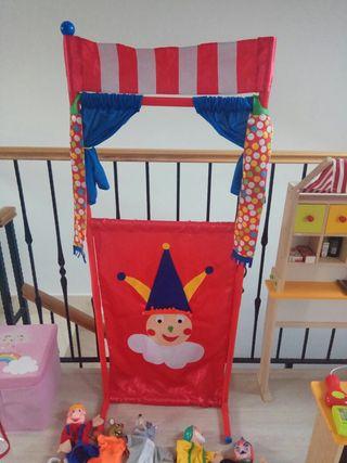 Guiñol niños y marionetas