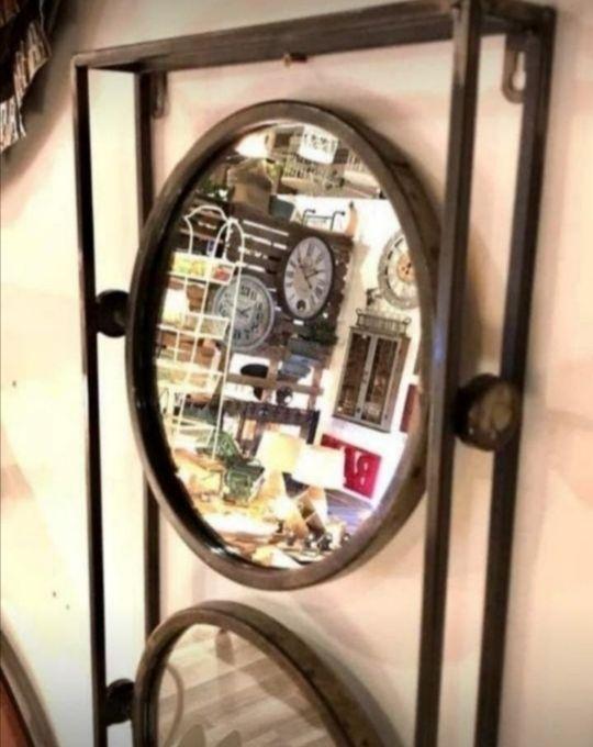 3 Espejos de hierro basculantes