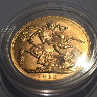 Soberano de oro 1912L