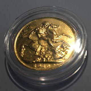 Soberano de oro 1910L