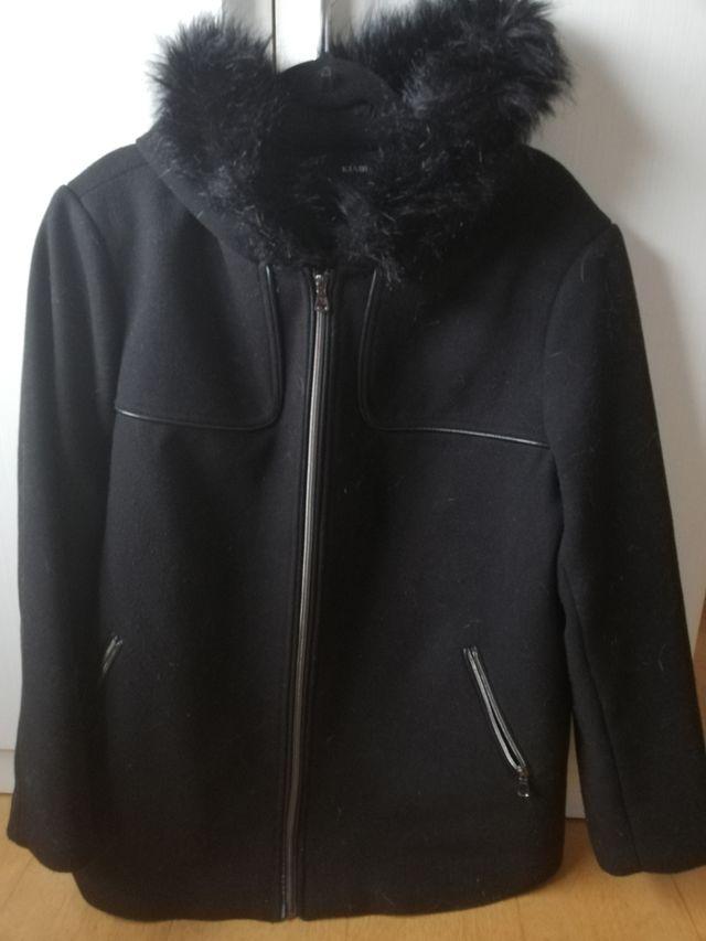Abrigo Negro Kiabi Talla Grande De Segunda Mano Por 17 En Barcelona En Wallapop