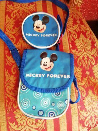 Bolso NUEVO y monedero muñeco Mickey mouse Disney
