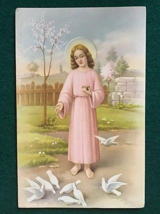 Postal religiosa LT 1028 años 50
