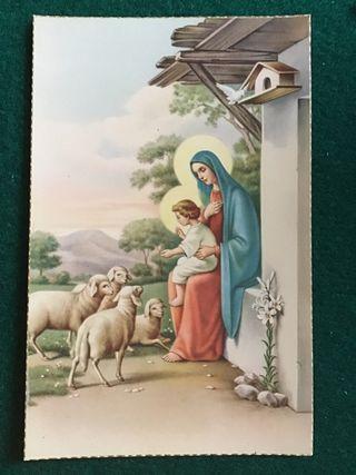 Postal religiosa LT 1376 años 50