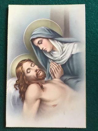 Postal religiosa LT 1055 años 50